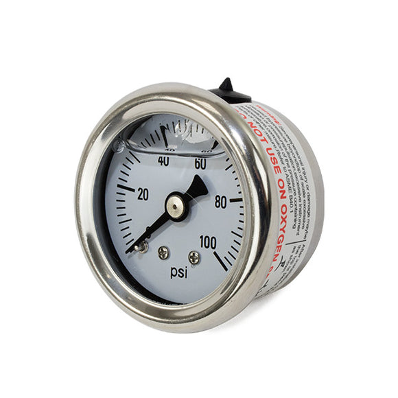 Top Street Performance Fuel Pressure Gauge - Liquid Filled 0-100 PSI