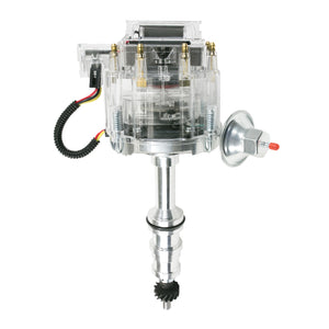 "Top Street Performance HEI Distributor - Ford FE V8 (330, 361, 391) HD Trucks w/ 5/16"" Shaft, Clear"