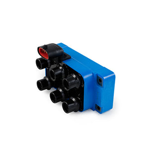 Top Street Performance Ignition Coil - 1989-2000 Ford V6 w/ Vertical Connection, 40K, Blue