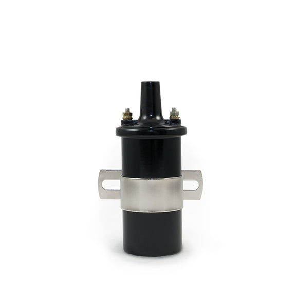 Top Street Performance Ignition Coil - Oil-Filled Canister Style, Female Socket, Black