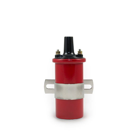 Top Street Performance Ignition Coil - Oil-Filled Canister Style, Female Socket, Red