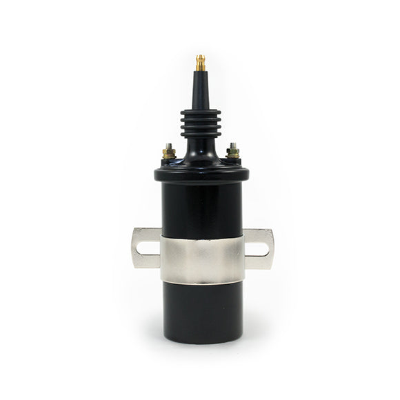 Top Street Performance Ignition Coil - Oil-Filled Canister Style, Male Socket, Black
