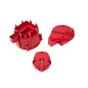 Top Street Performance HEI Distributor Super Cap and Rotor Kit - 8 Cylinder Male, Red