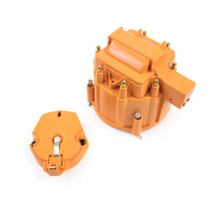Top Street Performance HEI Distributor Standard Cap and Rotor Kit - 8 Cylinder Male, Orange