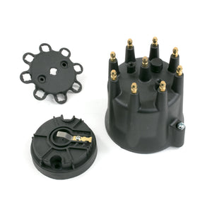Top Street Performance Pro Series Distributor Cap and Rotor Kit - 8 Cylinder Male, Black