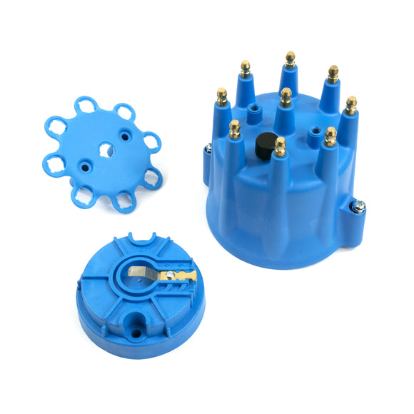 Top Street Performance Pro Series Distributor Cap and Rotor Kit - 8 Cylinder Male, Blue