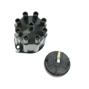Top Street Performance Pro Series Distributor Cap and Rotor Kit - 8 Cylinder Female, Black