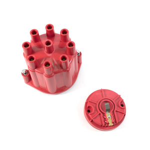 Top Street Performance Pro Series Distributor Cap and Rotor Kit - 8 Cylinder Female, Red