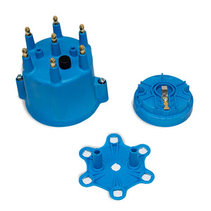 Top Street Performance Pro Series Distributor Cap and Rotor Kit - 6 Cylinder Male, Blue