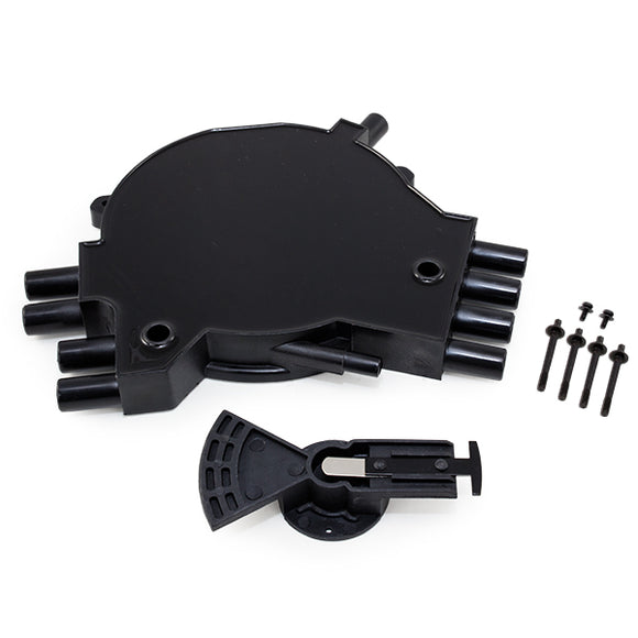 Top Street Performance Opti-Spark Distributor Cap and Rotor Kit - Chevrolet LT1 Gen. 2 1995-1997, Black