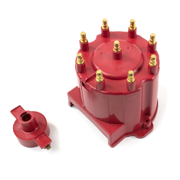 Top Street Performance GM EFI Distributor Cap and Rotor Kit - 8 Cylinder Male, Red