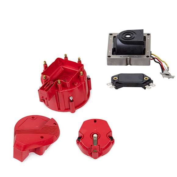 Top Street Performance HEI Distributor Super Cap Tune Up Kit - 6 Cylinder Male, Red