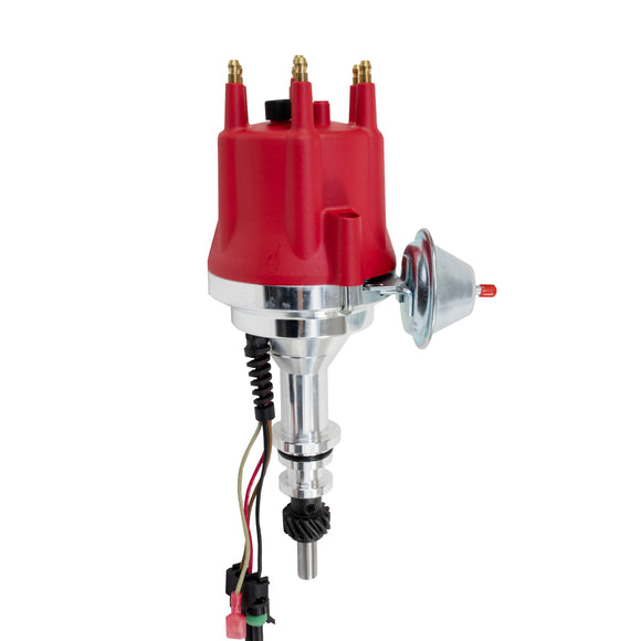 Top Street Performance Pro Series Ready to Run Distributor - Ford L6 Gen 3 (144, 170, 200, 250), Red