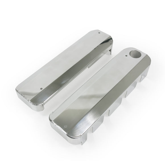 Top Street Performance Coil Covers - Fab. Alum., LSX, Polished