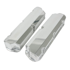 Top Street Performance Valve Covers - Fab. Alum., Short Bolt w/o Holes SBF, Clear Anodized