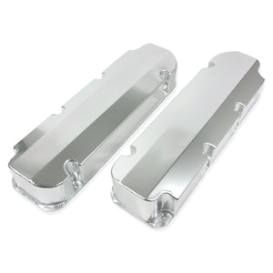 Top Street Performance Valve Covers - Fab. Alum., Short Bolt w/o Holes BBF, Clear Anodized
