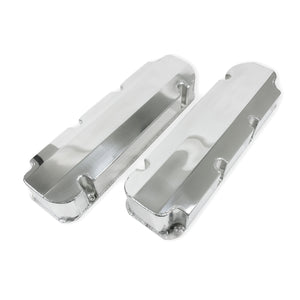 Top Street Performance Valve Covers - Fab. Alum., Short Bolt w/o Holes BBF, Polished
