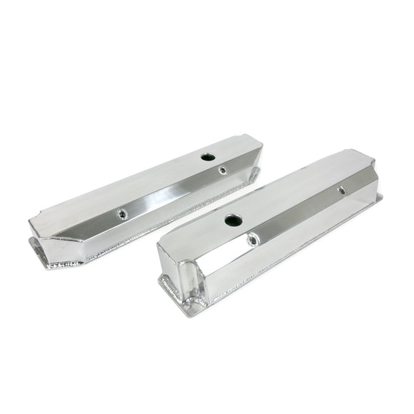 Top Street Performance Valve Covers - Fab. Alum., Long Bolt w/ Holes Chrysler BB, Polished