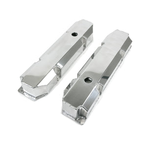 Top Street Performance Valve Covers - Fab. Alum., Short Bolt w/ Holes Chrysler BB, Polished