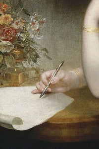 1797 Princess Elizabeth of the United Kingdom William Beechey Victorian art painting woman writing letter