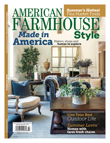 willow and birch apothecary featured in Made in America issue of American Farmhouse Style magazine