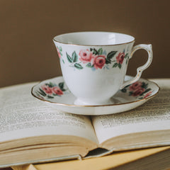 Antique teacup for Victorian tea party