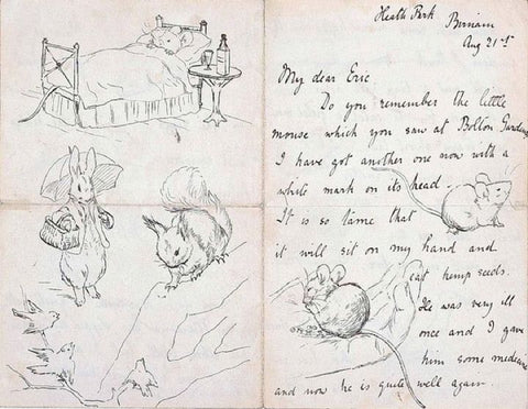 Beatrix Potter Letter and Illustrations