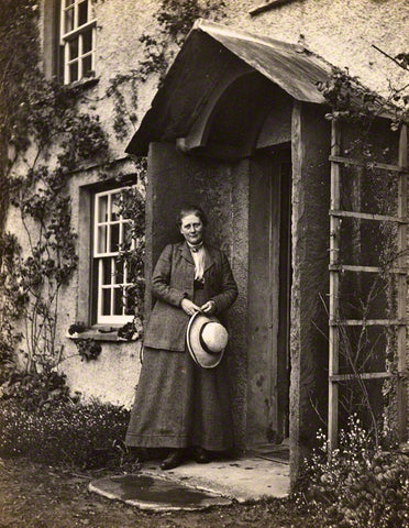 Beatrix Potter at Hill Top Farm 1913