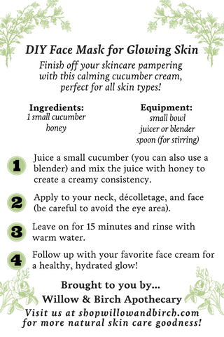 DIY hydrating face mask recipe for glowing skin