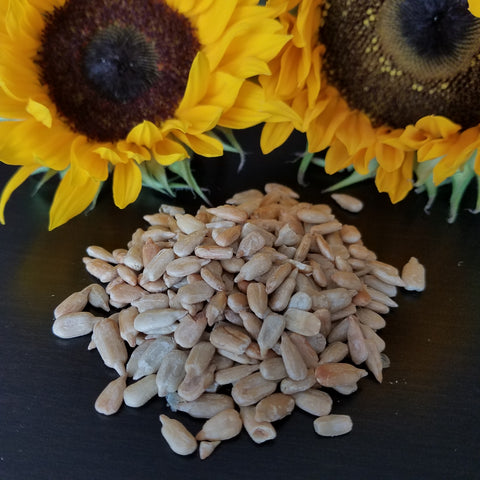 Sunflowers and sunflower seeds for gentle fall facial DIY beauty