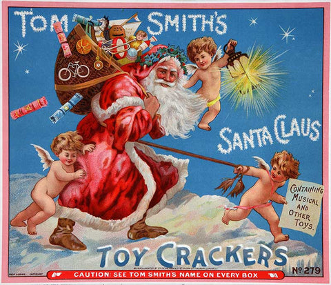 Tom Smiths Christmas Crackers Santa Advertisement