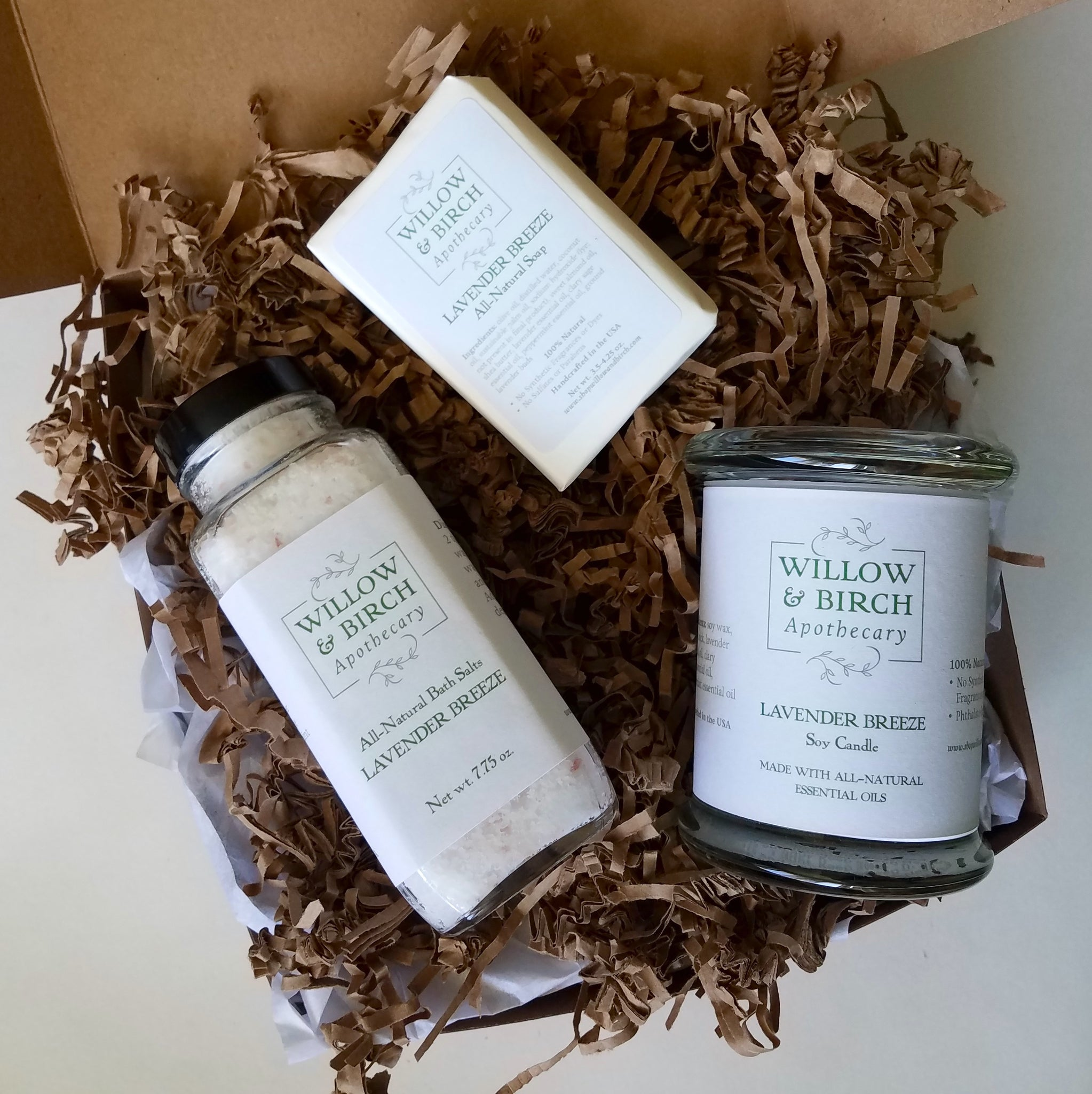 Spa Collection Gift Set Luxury Spa Gift Willow Birch Apothecary