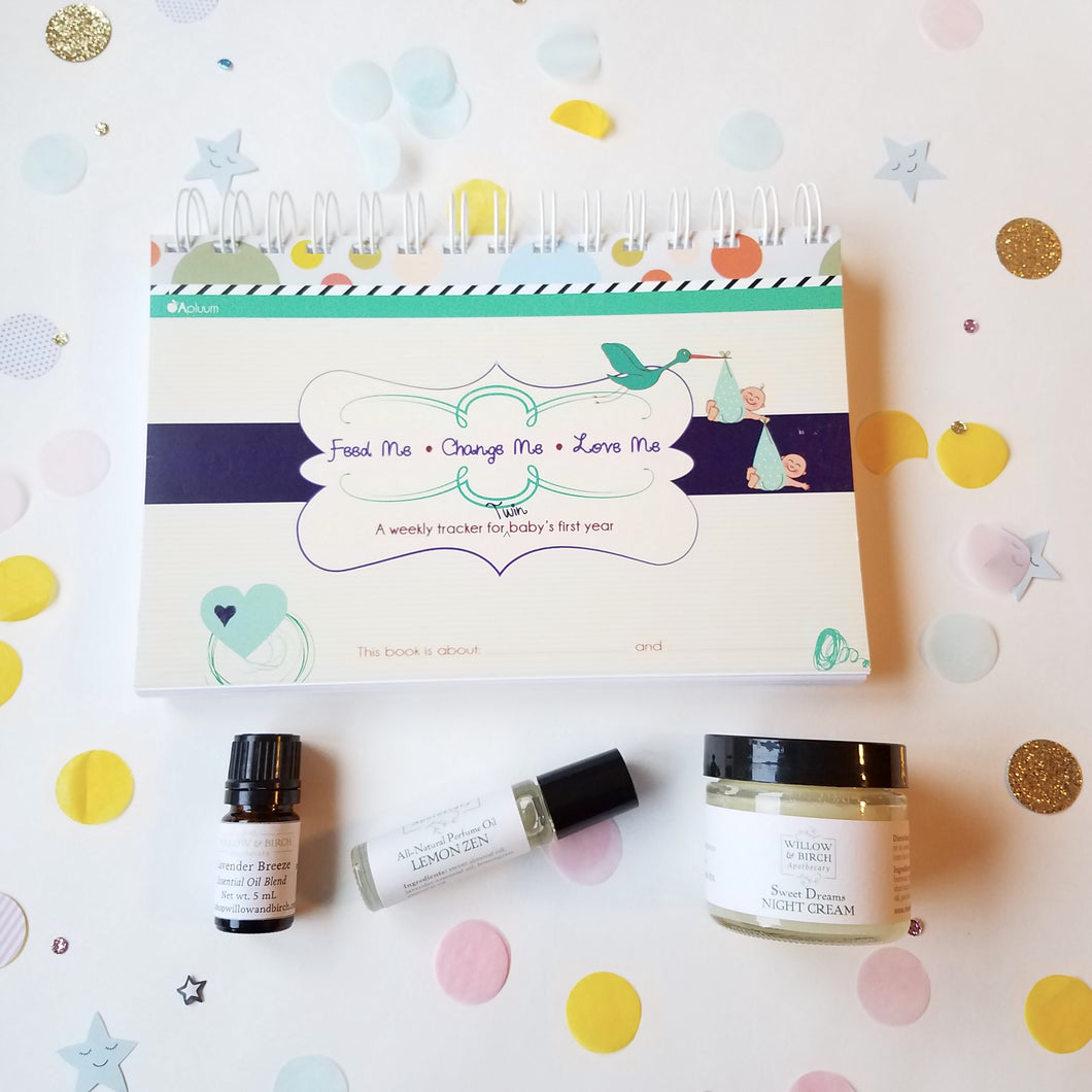 Perfectly Pampered New Mom Gift Set (Twins Set) Gifts - Willow & Birch Apothecary