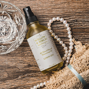 Artisan botanical moisturizing oil for body, hair, and bath. Nut-free hypoallergenic blend: essential oils, apricot kernel oil, argan oil, evening primrose oil. Willow & Birch Apothecary timeless, feminine, romantic Victorian scents for the old soul. Classic beauty inspired by Edwardian and English cottage style.