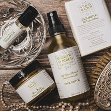 Willow & Birch Apothecary natural botanical artisan beauty gift set in timeless, feminine, romantic Victorian vintage style scents for the old soul. Classic beauty inspired by the Edwardian apothecary shop for the modern romantic and vintage girl.