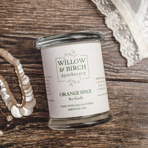 Orange Spice Scented Soy Candle