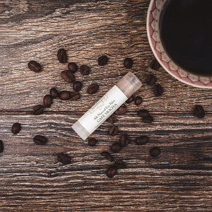 Cafe Mocha naturally flavored moisturizing lip balm from Willow & Birch Apothecary