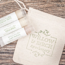 Lip balm set bridal party wedding gift from Willow & Birch Apothecary