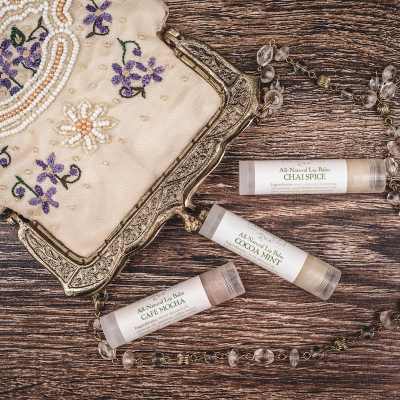 Lip balm set for bridal party wedding gift from Willow & Birch Apothecary