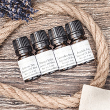 Essential oil natural scent blends by Willow & Birch Apothecary with lavender bouquet and rope