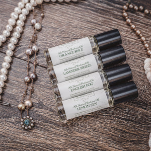 Natural perfume beauty gift set made with essential oils from Willow & Birch Apothecary
