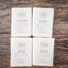 Natural scented moisturizing botanical soap with essential oils from Willow & Birch Apothecary