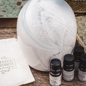 Aromatherapy diffuser with natural essential oil scent blends from Willow & Birch Apothecary