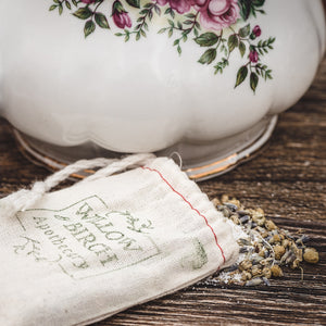 Lavender and chamomile botanical bath tea epsom soak from Willow & Birch Apothecary