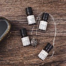 Victorian style perfume locket with natural essential oil scent blends from Willow & Birch Apothecary