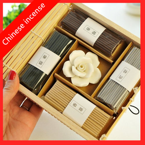 Incense Stick Set Meditation in Bamboo Gift Box
