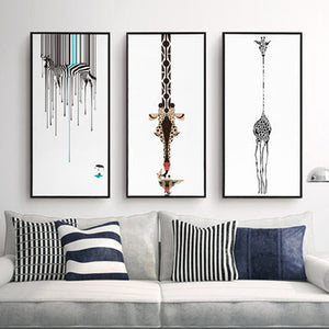 Abstract Decorative Painting Modern Wall Painting Black And White