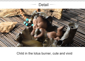 Incense Burner Lotus Child Buddhist Incense Holder