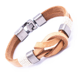 Vintage Knot Wrap Bracelet Men Jewelry Zinc Alloy Metal