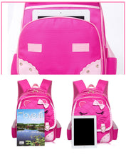 Girls School Bag Children Backpack Pinks Cute Little Face and Bow Girly